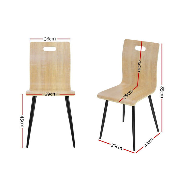 Set of 4 Bentwwod Dining Chairs-Metal Legs-FREE SHIPPING