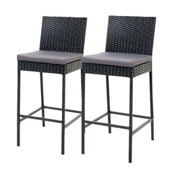 Gardeon Outdoor Bar Stools Dining Chairs Rattan Furniture X2