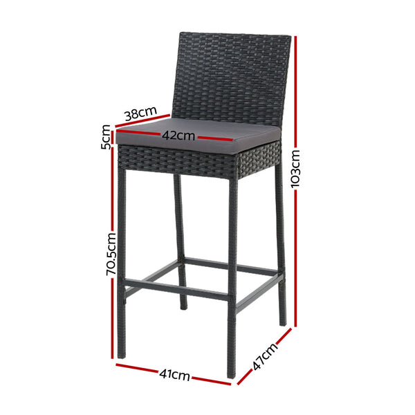 Set of 2 Outdoor Bar Stools-FREE SHIPPING