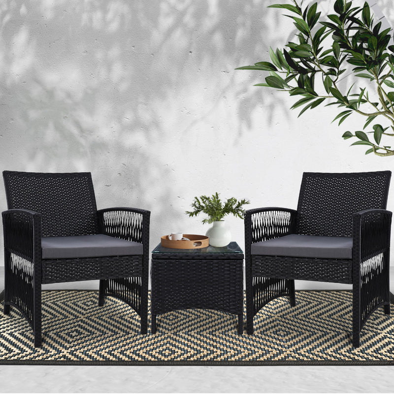 3 Piece Patio Outdoor Bistro Set-FREE SHIPPING