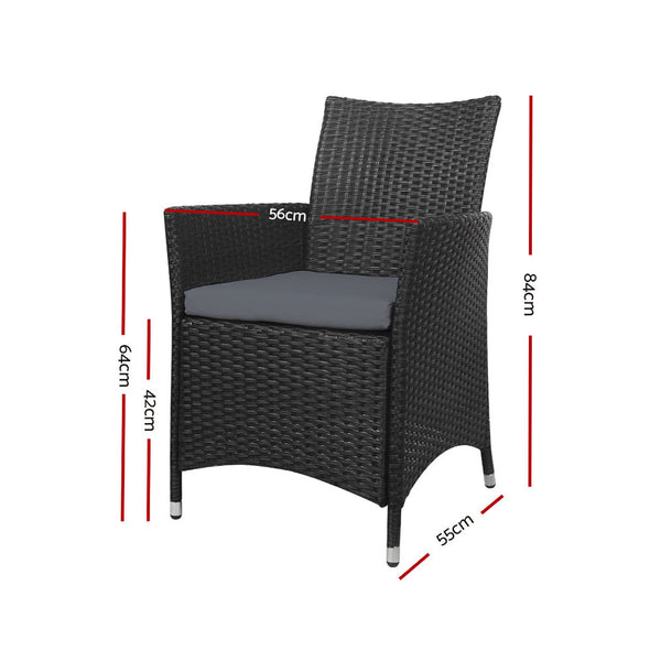 Set of 2 Outdoor Bistro Chairs-FREE SHIPPING