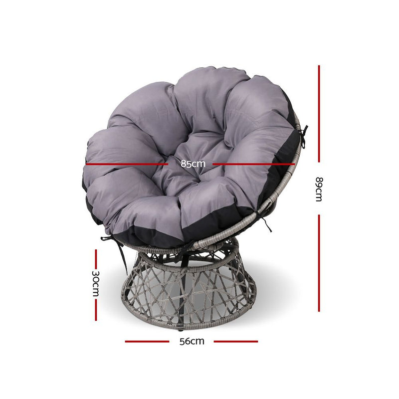Papasan Chair-Grey-FREE SHIPPING