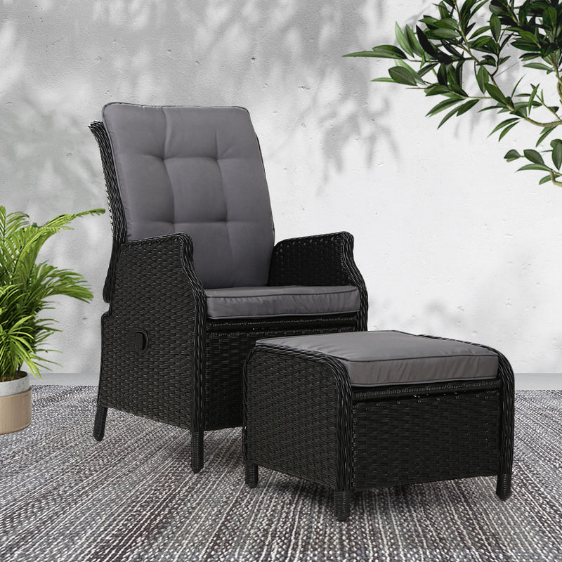 2 Piece Recliner Chair Set-Wicker-FREE SHIPPING
