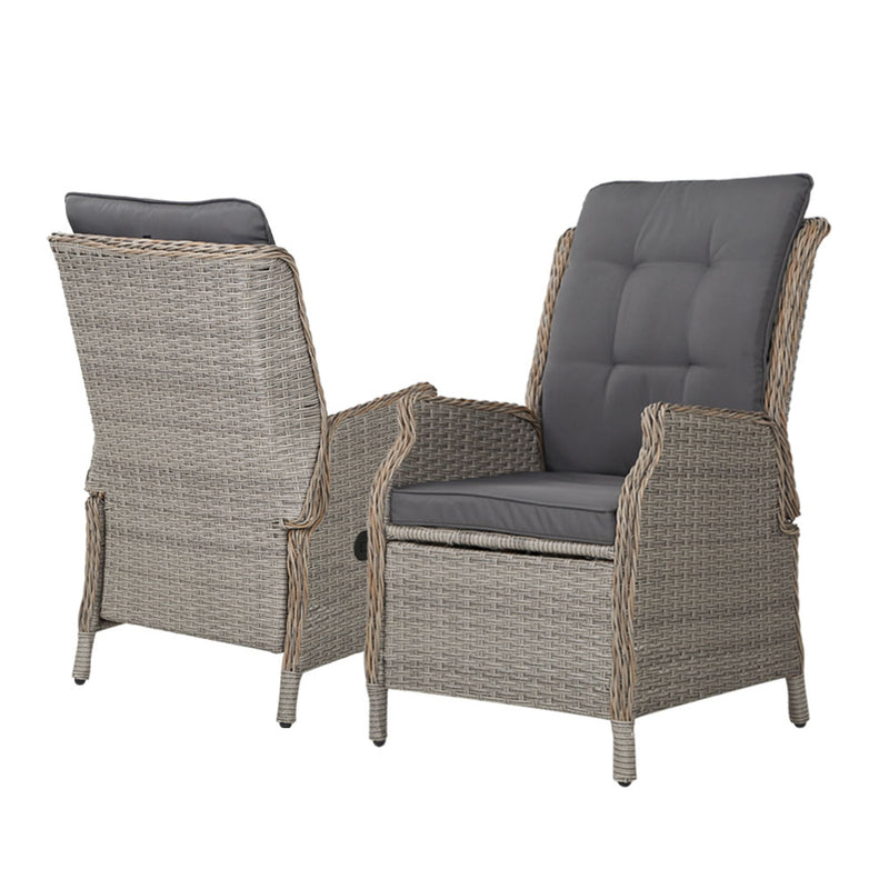 5 Piece Recliner Chair Set-Wicker-FREE SHIPPING