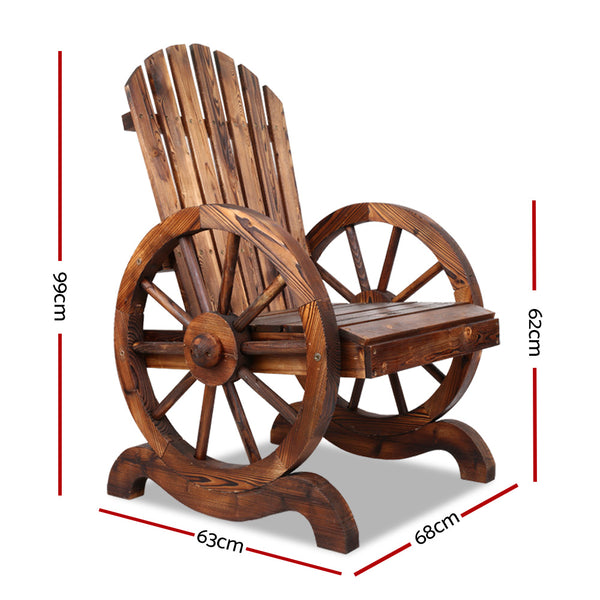 Wooden Wagon Chair-FREE SHIPPING