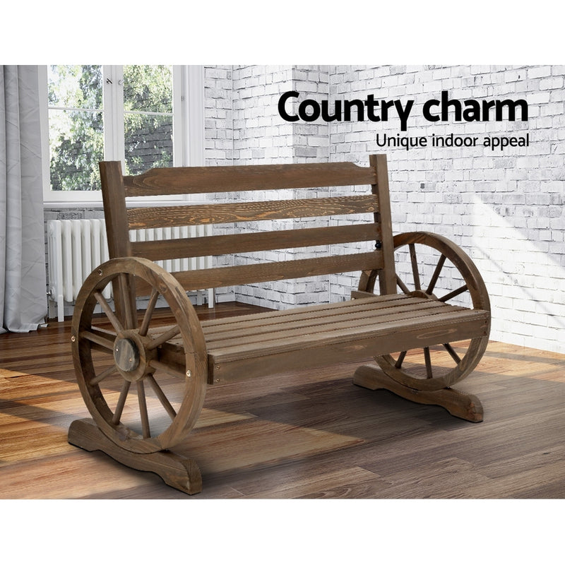 Park Bench-Wooden Wagon Chair-FREE SHIPPING