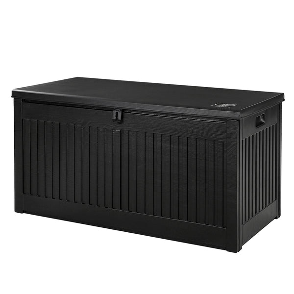 Gardeon Outdoor Storage Box Container Garden Toy Indoor Tool Chest Sheds 270L Black