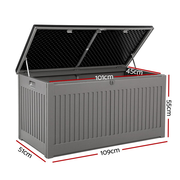 Outdoor Storage Box-270L-Dark Grey-FREE SHIPPING