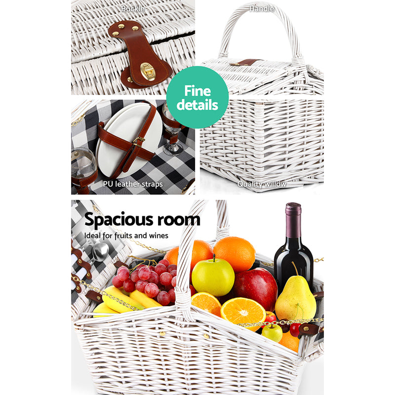 Alfresco 2 Person Picnic Basket-FREE SHIPPING