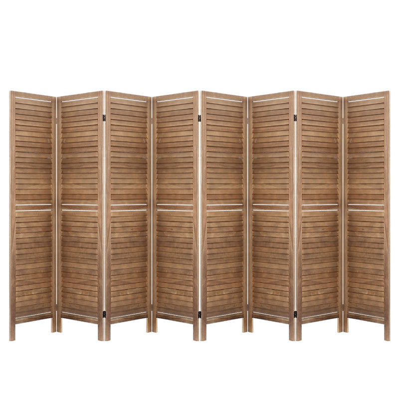 8 Panel Room Divider Screen-Timber-Brown-FREE SHIPPING