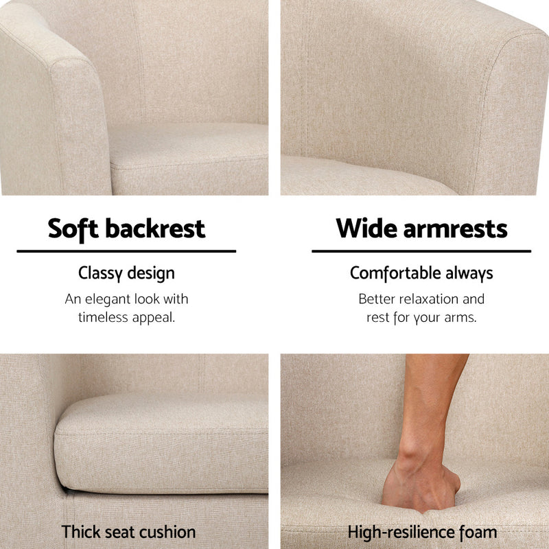 Abby Tub Armchair-Fabric-FREE SHIPPING