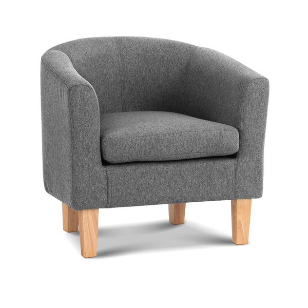 Artiss Abby Fabric Armchair - Grey
