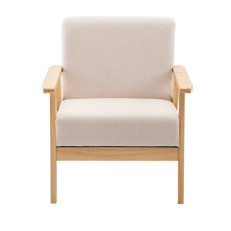 Fabric Dining Armchair-Beige-FREE SHIPPING