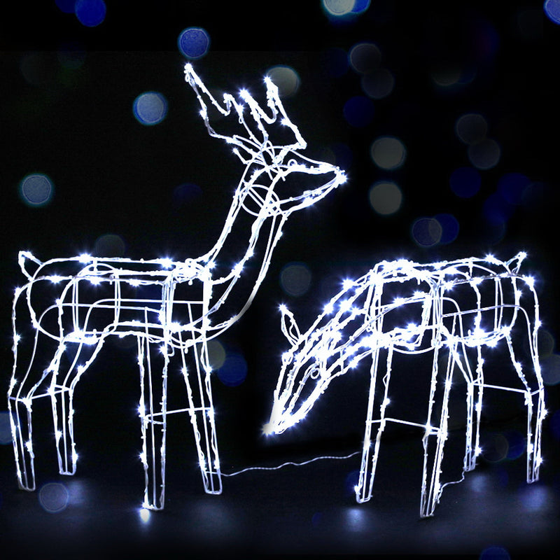 Solar Powered Reindeer Christmas Motif Lights-LED-Waterproof-FREE SHIPPING