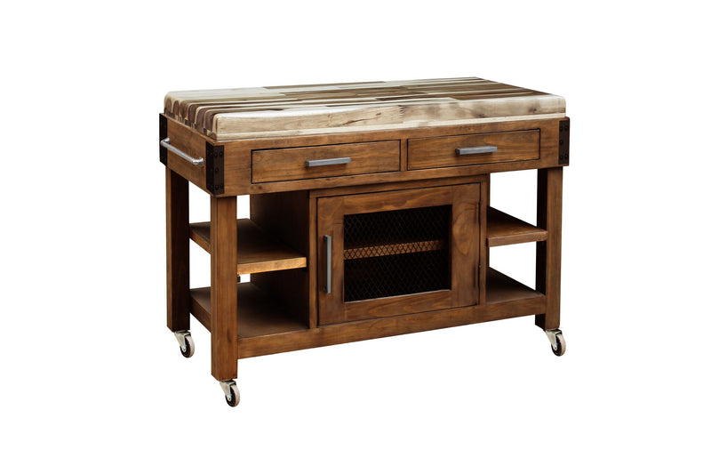 Atrill butchers work bench with hardwood top