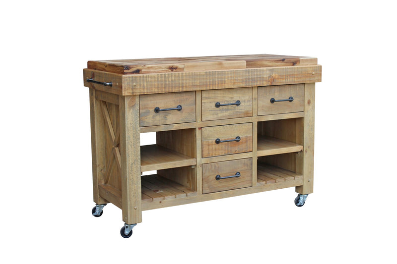 Ashby butchers work bench with hardwood top