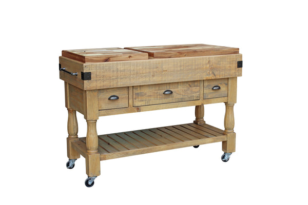 Braden work bench with hardwood top