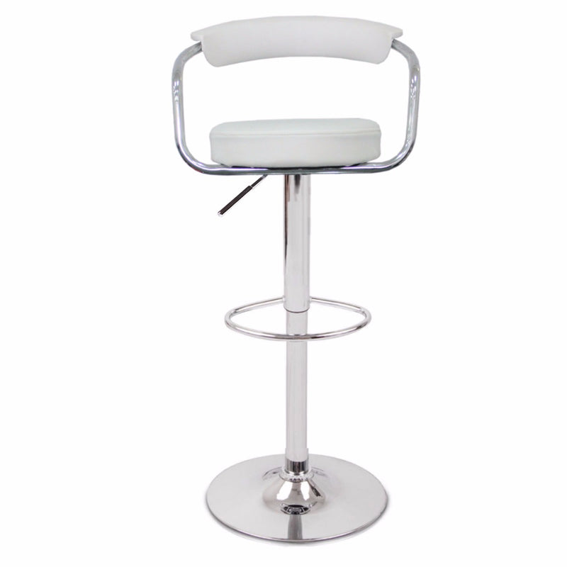 2 x GINA BAR STOOL WHITE