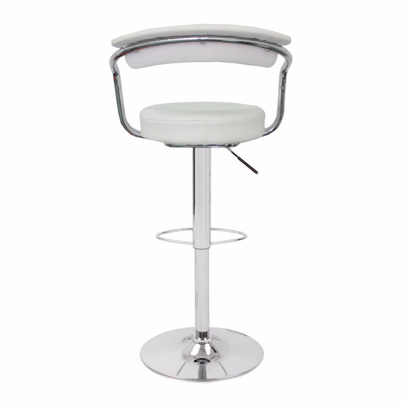 Set of 2  GINA BAR STOOLS-WHITE-FREE SHIPPING
