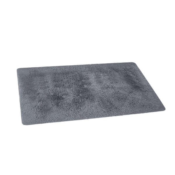 Artiss Floor Rugs Soft Shaggy Rug Large 200x230cm Carpet Anti-slip Mat Area Grey