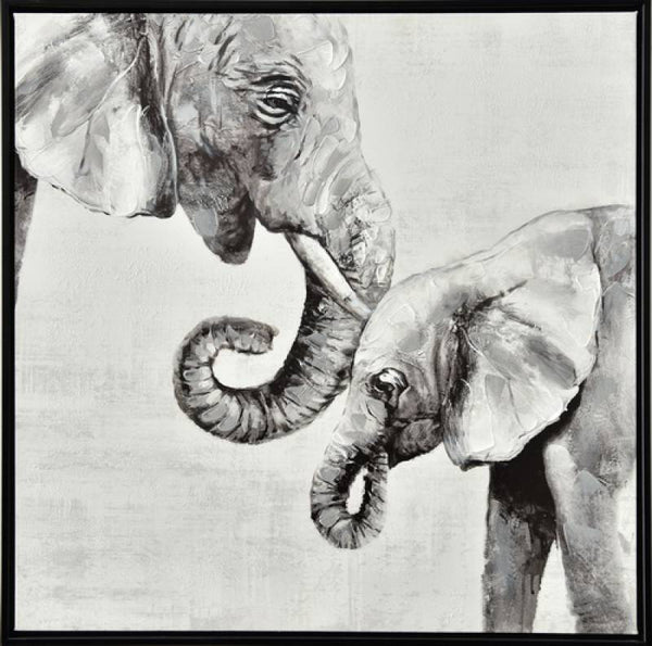Loving Elephant Canvas 60cm x 60cm