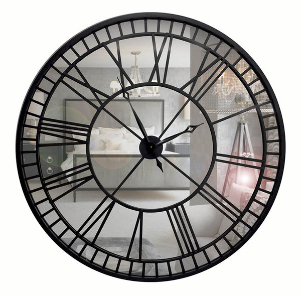 Gianni 60cm Mirror Wall Clock