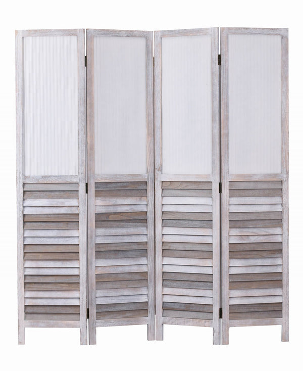 Beach House Screen Antique White