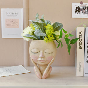 Cute Lady Planter - Handmade