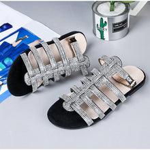 Load image into Gallery viewer, Studded Ankle-buckled Flat Sandals
