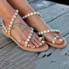 Load image into Gallery viewer, Hailey Crystal Strapped Sandals