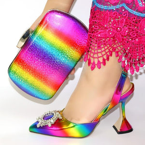 HIGH HEEL SHOES AND BAGS SET