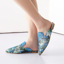 Load image into Gallery viewer, Silk Pointed Princetown Slippers