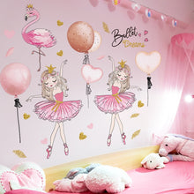 Load image into Gallery viewer, Cute Removable Ballerina Baby Girl Room Decor