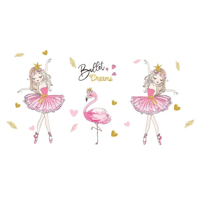 Cute Removable Ballerina Baby Girl Room Decor