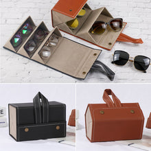 Load image into Gallery viewer, Marianne Multi-Slot Portable Leather Eyeglasses Organizer