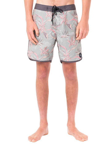 Backhand Scallop Boardshort - Grey