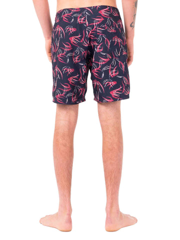 Para Dice Elastic Boardshort - Navy Blue