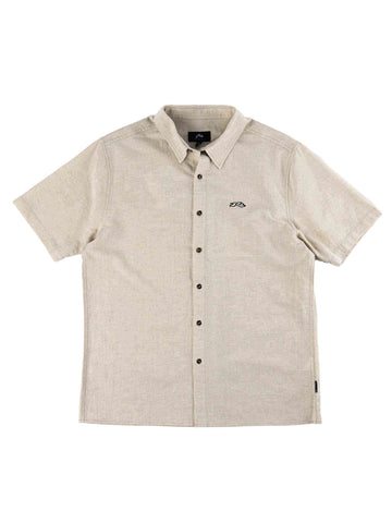 Undertone Short Sleeve Linen Shirt - Beige Fog