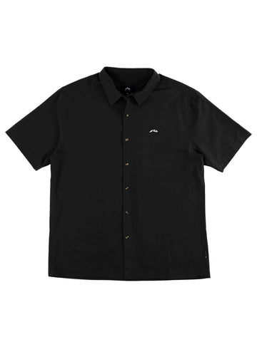 Undertone Short Sleeve Linen Shirt - Black