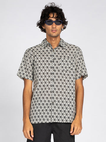 Hidden Image Short Sleeve Shirt - Black
