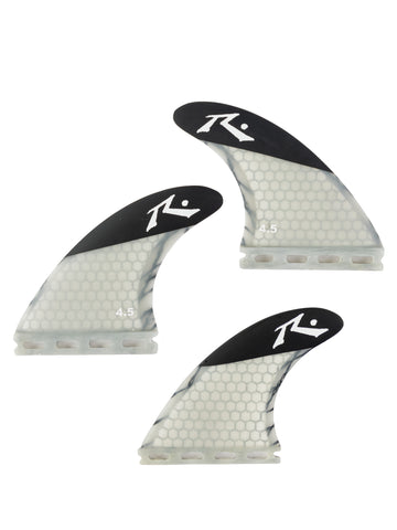 Rusty (Medium) 4.5 Thruster Fin Set - Charcoal