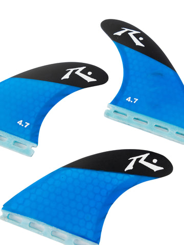 Rusty (Large) 4.7 Thruster Fin Set - Neon Blue