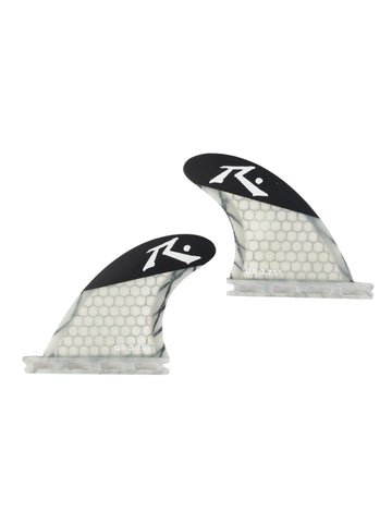 Rusty 3.75 Quad Rear Fin Set - Charcoal