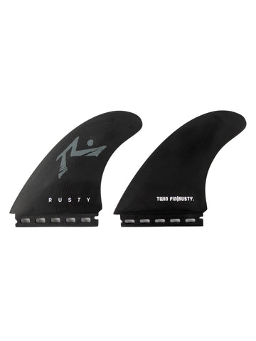 Rusty (Large) 5.5 Twin Fin Set - Black