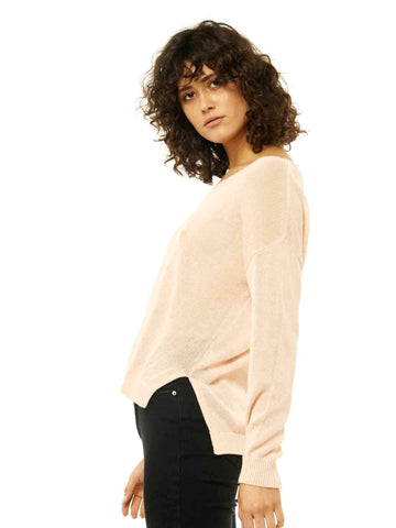 Surface Vee Neck Knit - Peachy Keen