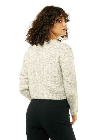 Woodstock Crew Neck Knit - Grey Marle