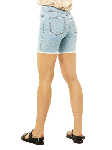 All Day Long Denim Short - Sky Blue