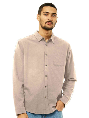 Overtone Long Sleeve Linen Shirt - Humus