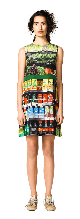 SHIFT DRESS - GREEN GROCER