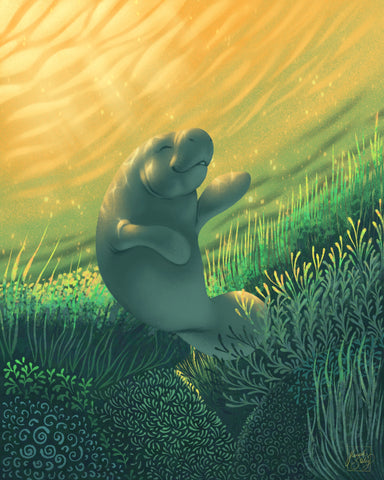 King of Wands (Manatee)